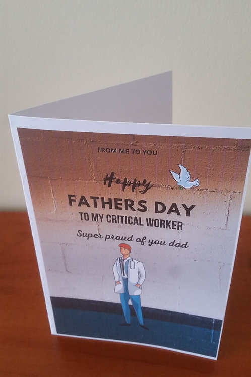 The Doctor fathers day card