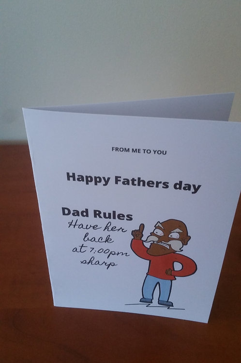 Dad rules fathers day card