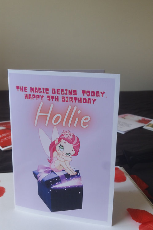 Fairy birthday card for daughter