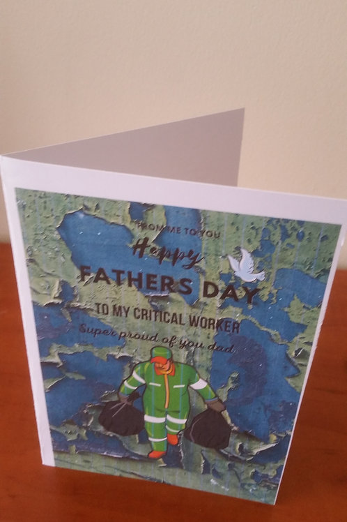 Sanitation worker fathers day card