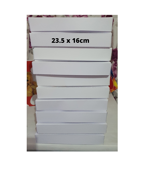 Handmade plain white boxes, branded boxes, birthday box, greeting card boxes