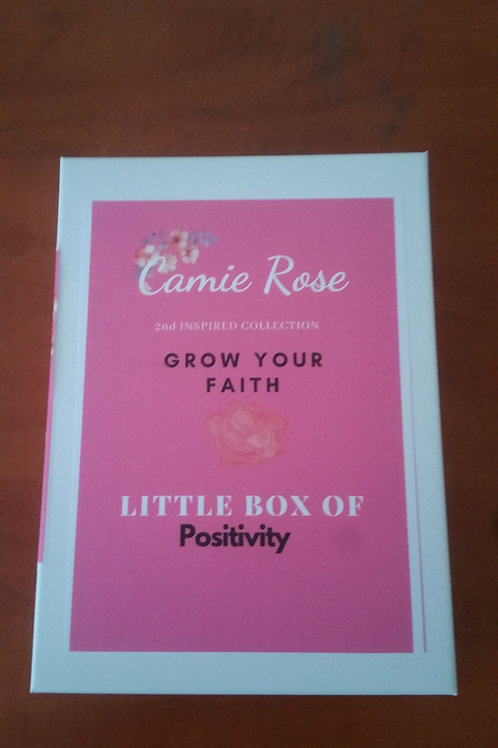 Motivation faith card pink box