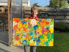 Mum collected her beautiful children's art for 20 years !
