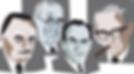 מימין: ולטר גרוס, היינץ הרמן, אהרון ליטאי ומשה זמורה. איור: ערן וולקובסקי