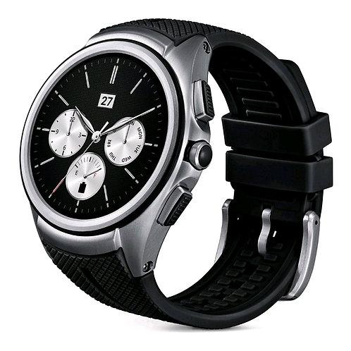 LG W200 G Watch Urbane / Leather Strap / Black, Original
