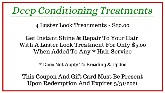 Deep Conditioning Treatments