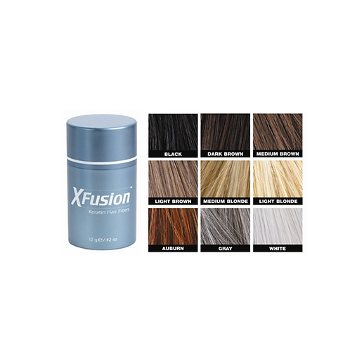 X Fusion Hair Fibers (Med. Brown)