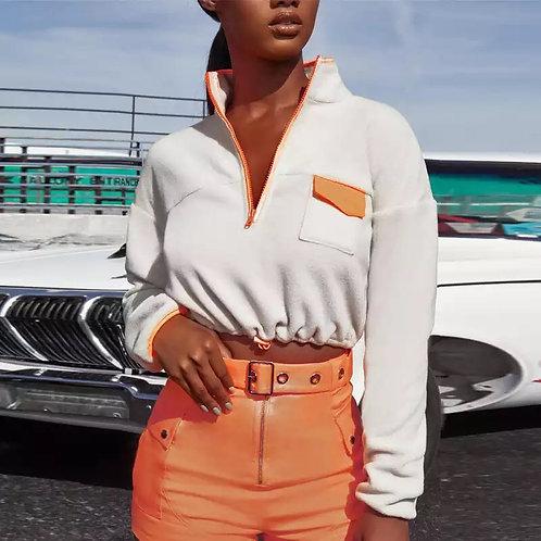 """Hint of Orange"" Sweater"