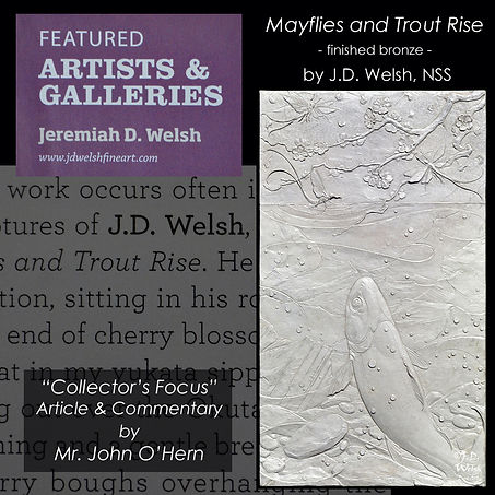 AMERICAN ART COLLECTOR - MAYFLIES AND TROUT RISE -  PG 2 PRIME - DARKER AND ALT - JD WELSH