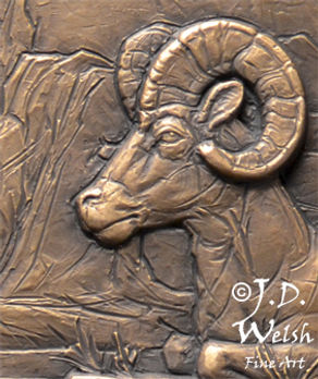 RIDGE FIRE REFUGE - BRONZE - DETAIL IMAGE - LOW RELIEF