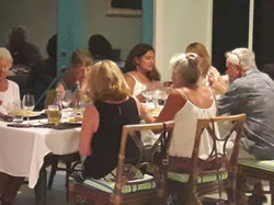 Diners at Island Cuisine Restaurant