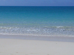 Crystal clear water at the beach
