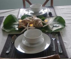 Island Cuisine table setting