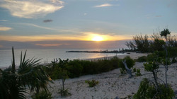 Pompey Rock beach at sunset