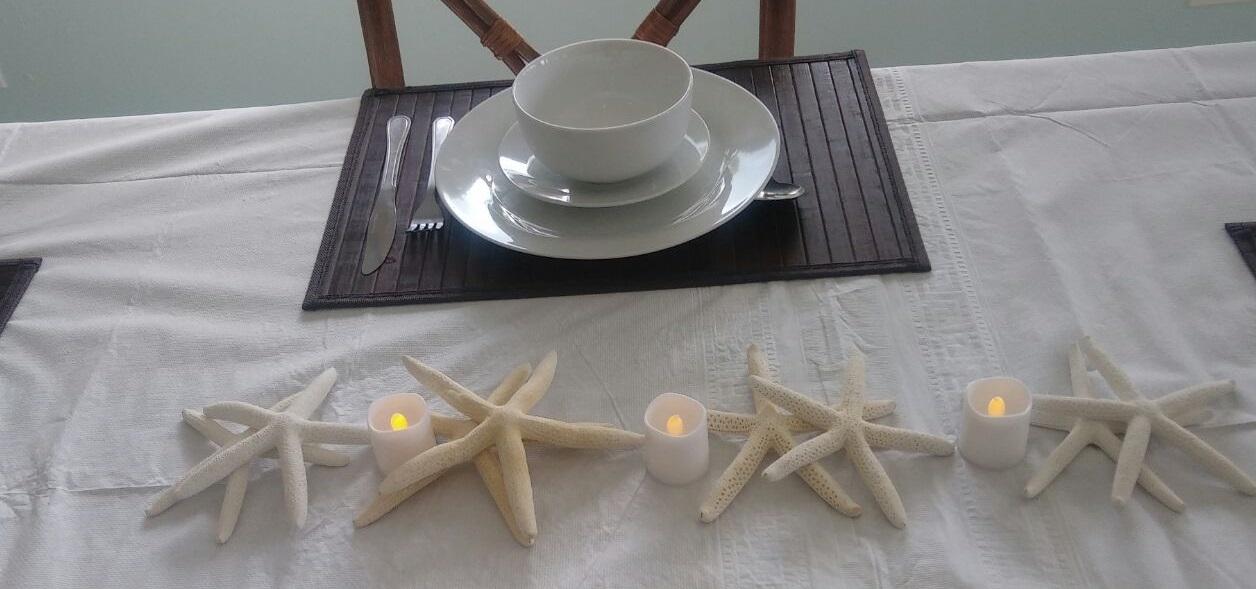 Table setting at Island Cuisine