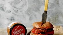 """Веганский бургерс соусом """"Томатный"""" Simon's Sauce"""