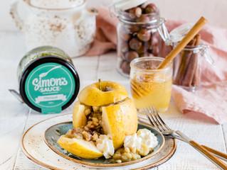 """Печёные яблоки с соусом """"Мятный"""" Simon's Sauce"""