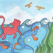 Cat Can't Swim!