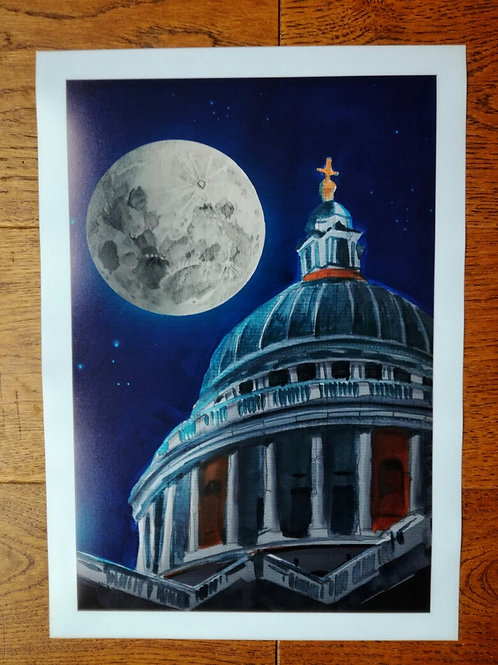 St Paul's Cathedral Print - A4
