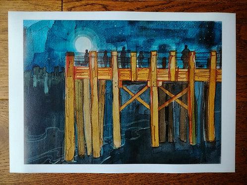 Thames Pier Print - A4