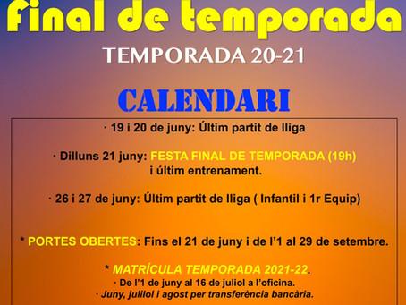 FINAL DE TEMPORADA i NOVETATS 21-22!