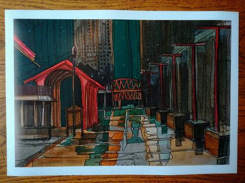Street Scene Print - A4