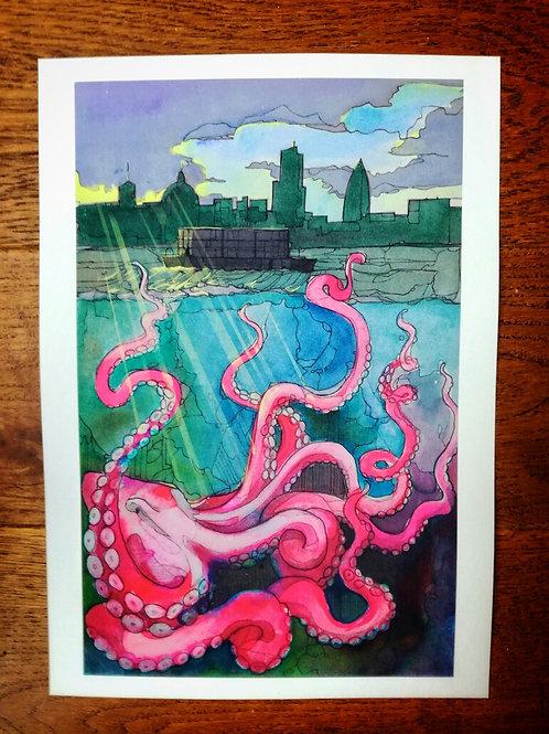 Octopus Print - A4 size