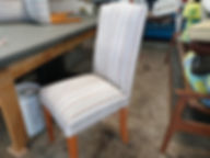 DINING CHAIR RE-UPHOLSTERED BY ANDREW.jp