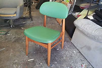UPHOLSTERY PRICE for a Retro dining chair in commercial vinyl or Fabric