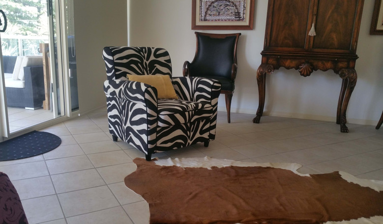 Recent re-upholstery project of a arm chair