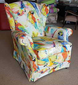 recent project recover a wing chair by First Edition Upholstery servicing Brisbane