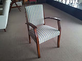 Gossip chair with swivel back restored by First EDITION UPHOLSTERY