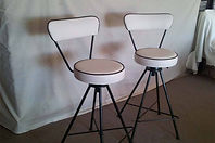 UPHOLSTERY PRICE for a Retro bar stool in commercial vinyl or Fabric
