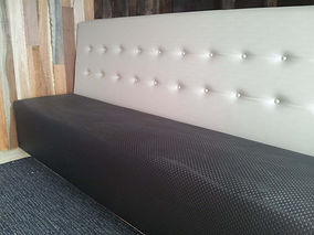 Straight banquette for shop seating