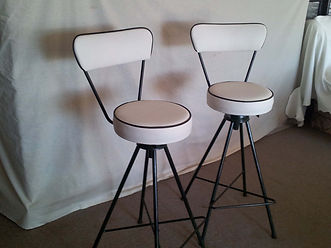 ANDREWS Recover- a pair of matching retro barstools