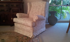 Wing chair re-upholstery price refer our upholstery page