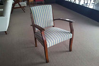 UPHOLSTERY PRICE for a Bridge chair in commercial vinyl or Fabric