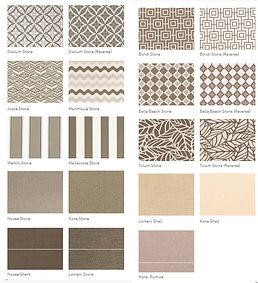 Warwick outdoor fabric selecter
