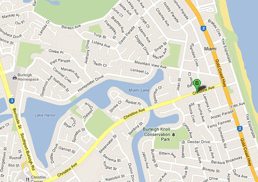 Map to find First Edition Upholstery on the Gold Coast