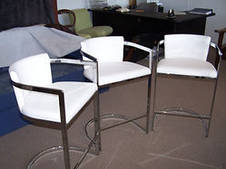 Upholstered bar stools for Labrador unit