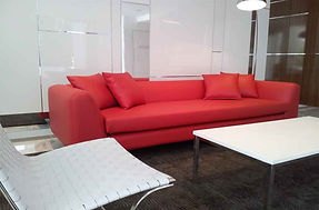 4 seater Sofa red commercial vinyl