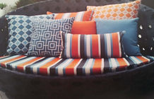 Outdoor cushions remade in weatherproof fabric