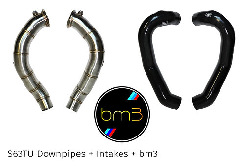 BMW F10   f06   f12  S63TU Downpipe, Intake, and Bootmod3 Package