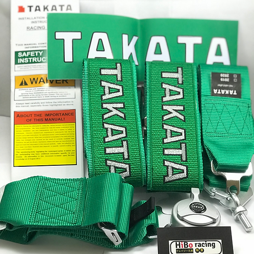 "Takata 4-Point 3"" Racing Seat Belt Harness"