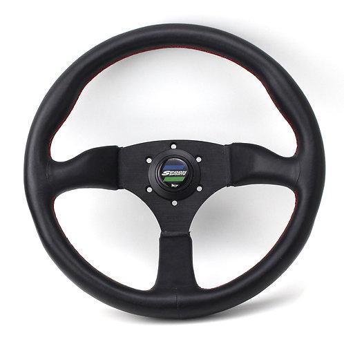 350 mm Universal Leather Car Racing Steering Wheel