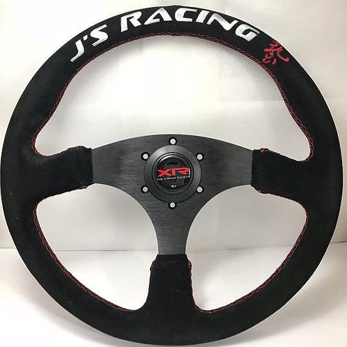 """350 mm (14"""" ) Universal Suede Leather Car Racing Steering Wheel"""