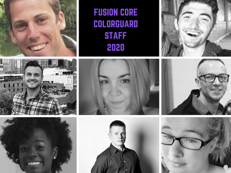 Casey Mccoy leads Fusion Core's 2020 Colorguard