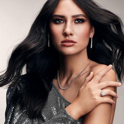 Rosendorff Diamond Campaign | Model: Celine Benham | Hair & Makeup: Jacqui Bradfield | Photographer: Chantel Concei | Styling: Clare Ryan