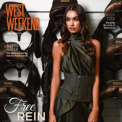 West Weekend Cover Shoot | Model: Ebony Walton | Photographer: Iain Gillespie | Styling: Clare Ryan