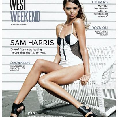 West Weekend Cover Shoot | Model: Samantha Harris | Photographer: Rob Duncan | Styling: Hannah Etchells (McGrath)